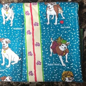 vintage WISHBONE twin flat sheet & fitted sheet🐕